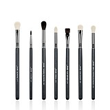 JESSUP 7 pcs pro eye brush set black/silver T077 - FÉLPROFI ECSETEK SZEMRE