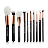 JESSUP 10 pcs Brush Set Black/Rose Gold T163 - FÉLPROFI SMINKECSET KÉSZLET ARCA SZEMRE