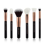 JESSUP 6 pcs Brush Set Black/Rose Gold T164 - FÉLPROFI SMINKECSET KÉSZLET ARCA SZEMRE