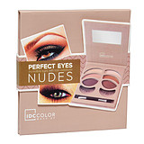 IDC COLOR Perfect Eyes Nudes Set - 6-OS SZEMFESTÉK PALETTA + MŰSZEMPILLA