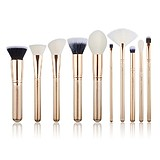 JESSUP 10 pcs Brush Set Golden/Rose Gold T411 - FÉLPROFI SMINKECSET KÉSZLET