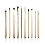 JESSUP 10 pcs Brush Set Golden/Rose Gold T412 - FÉLPROFI SMINKECSET KÉSZLET