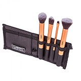 LaRock 4 pcs Gold Foundation Brushes Set with Case - 4 db-os ECSETKÉSZLET TARTÓVAL