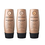 GOSH Foundation Plus Cover + Concealer Hydraion Hyaluronic Acid SPF15 - FOLYÉKONY ALAPOZÓ HIALURONSAVVAL